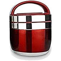 H-BOX Boîte à Lunch Thermo Grande capacité déjeuner Seau de Nourriture en Acier Inoxydable boîte à Lunch Isotherme boîte à Lunch à Soupe Thermo, 1.5 L,Red