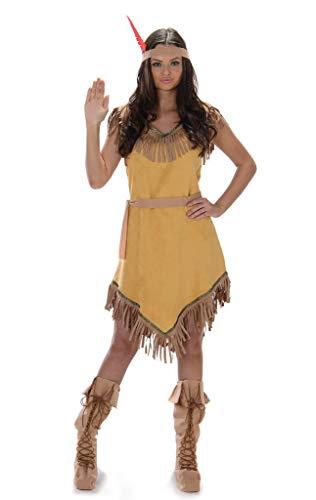 Damen Pocahontas Kostüm - Karnival 81048 Kostüm Women braun xl