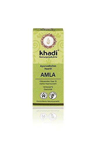 Khadi Ayurvedisches Haar-Öl Amla 10ml I natürliche Haar-Pflege für jedes Haar I traditionelles Mittel bei Haarausfall und grauen Haaren I Naturkosmetik aus pflanzlichen Ölen und Kräutern