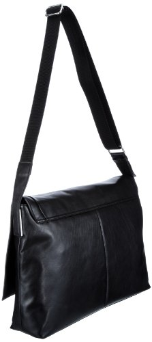 Calvin Klein  Diamond Leather, sac bandoulière homme Noir - Schwarz (black 999)