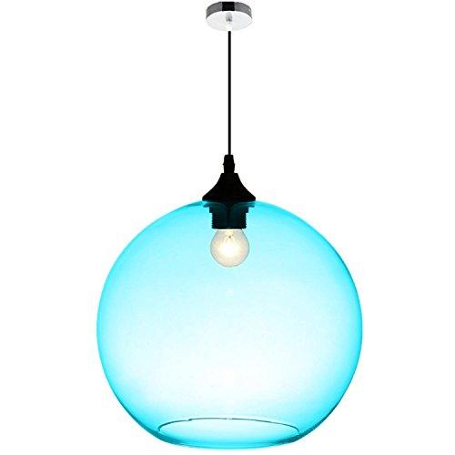 GRFH Blaues Glas Pendelleuchten Muster E27 110V-220V , 112