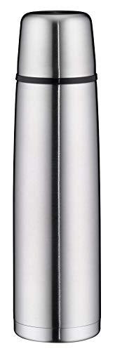 alfi 5207.205.100 Isolierflasche isoTherm Perfect, Edelstahl mattiert 1,0 l, Automatikverschluss, Spülmaschinenfest, 12 Stunden heiß, 24 Stunden kalt