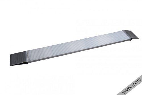Preisvergleich Produktbild Anhänger Rampe Auffahrrampe 750kg Traglast 220x2150mm 100mm Bauhöhe Alu mit Auflagerprofil