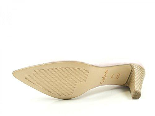 Gabor 61-280 Schuhe Damen Perlatolack Pumps Weite F Offwhite
