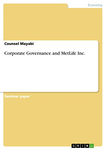corporate-governance-and-metlife-inc