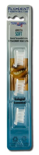 Toothbrush Refill-Adult Soft Eco-Dent 3 ea Brush by Eco-Dent