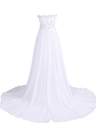 Dresstells, Robe de soirée Robe de cérémonie Robe de gala emperlée plissée bustier en cœur traîne mi-longue Bleu