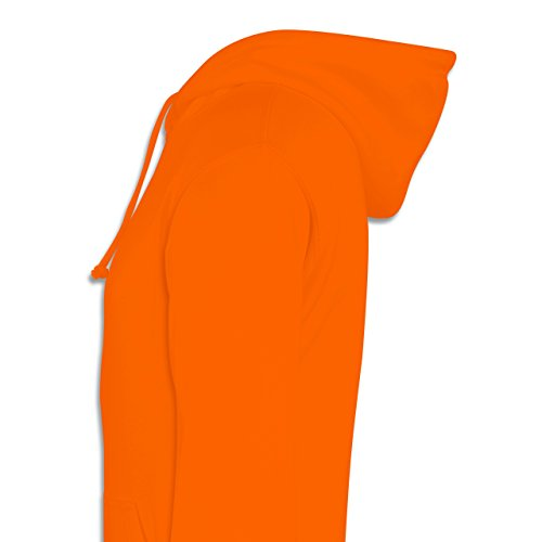 Statement Shirts - Spruch upside down - Männer Premium Kapuzenpullover / Hoodie Orange