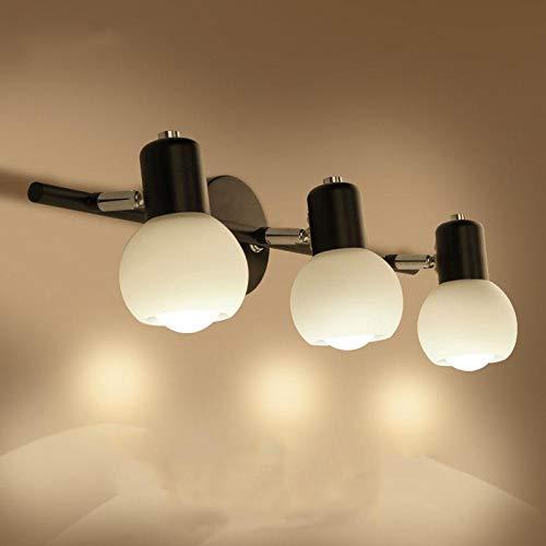 Schlafzimmer-modernen-eitelkeit (BIXDENG Minimalist Badezimmerspiegel Licht minimalistisch modernen LED-Leuchten Badezimmerspiegelschrank Eitelkeit Waschbecken Schlafzimmer Wand, 2)