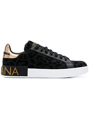 539ac0ab31b6d4 Dolce E Gabbana Femme Ck1570av2628b956 Noir Cuir Baskets