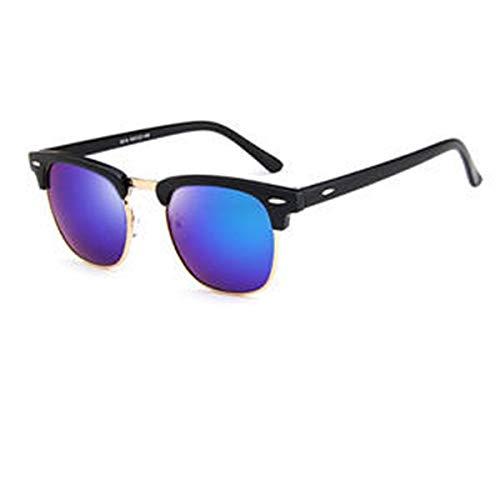 Tianzhiyi Sonnenschutz Sonnenbrille Unisex-Sonnenbrillen Vintage Metall + PC-Rahmen Retro Eyewear Square Frame Brillen für Männer und Frauen (Color : Green)