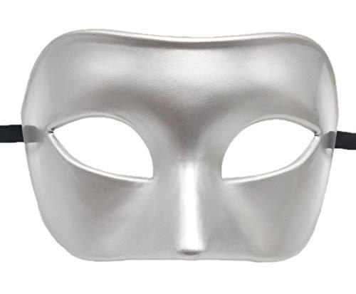 Kostüm Mädchen Erwachsene Griechische Für - Coolwife Mens Maskerade Maske Griechisch RöMisch Partei Maske Karneval Halloween Maske (Silber)