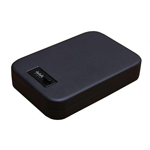 homdsim tragbar Passwort Tresore Cash Schmuck Aufbewahrungsbox Auto Tresore Pistole Gun Boxen Safe mit Diebstahlschutz Draht Seil, schwarz (Gun Seil)