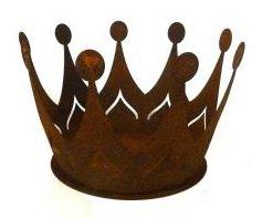 Rostkrone, Rost Krone, Metall Krone, Edelrost, Übertopf, Pflanztopf, Blumentopf, Krone aus Metall klein 78820