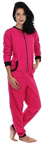 Sleepyheads Pyjama ohne Füße für Damen aus Fleece, bunter Onesie, Overall, Schlafanzug (SH1018-4025B-EU-2X)