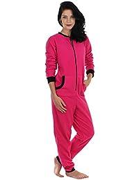 Sleepyheads entre las mujeres adultas no de patas paño grueso y suave de color Onesie pijama