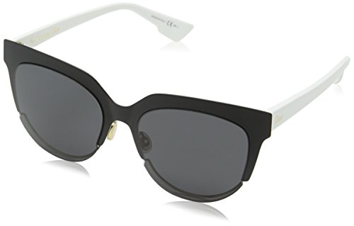 Christian dior diorsight2 y1 rev, occhiali da sole donna, nero (mtblck white/grey), 54