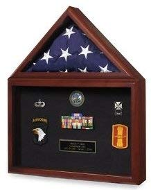 CHUNHUA Military Flag und Medaille Vitrine-Shadow Box -