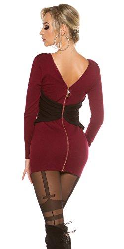 KouCla -  Vestito  - fasciante - Basic - Maniche lunghe  - Donna rosso vivo