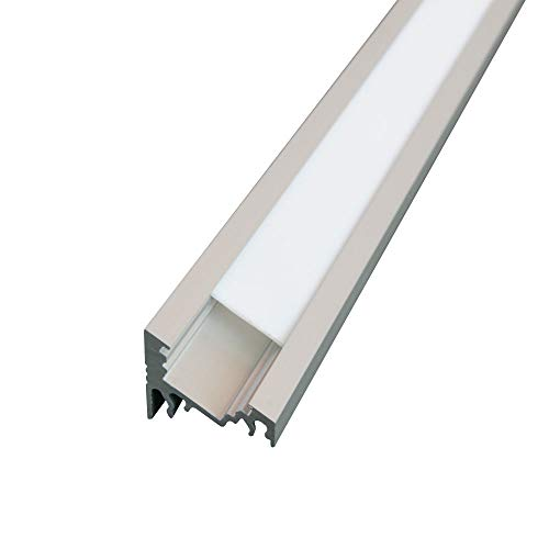5 x LED Profil CORNER-T ALU 2m eloxiert + raureife Blende für Streifen Strips Band randlight