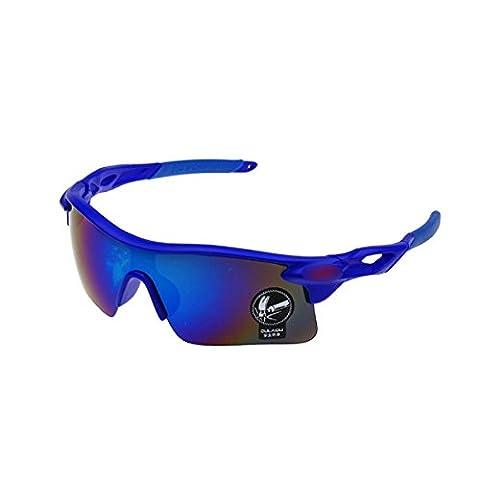 Fashion Outdoor Sports Cycling bicycle Bike Fishing Driving Sunglasses Eyewear Glasses (Blue)