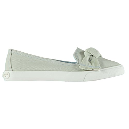 Rocket Dog Damen Carlita Debs Denim Slipper Schuhe Canvas Turnschuhe Schleife Hellblau Denim