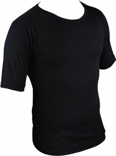 Highlander Thermo Unterhemd Kurzarm, Baselayer, Herren 2XL schwarz (Armour Kurzarm-unterhemd Under)