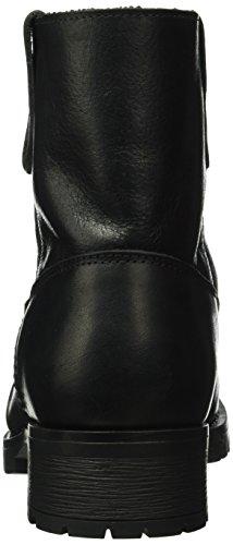 Pieces Psvaha Leather New Boot Black, Chaussures Bateau Femme Noir (Black)