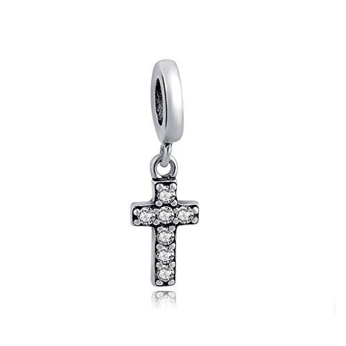 KUSTOM FACTORY Charm Kreuz & Zirkonia Silber für Pandora