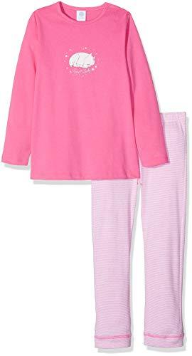 Sanetta Baby-Mädchen Zweiteiliger Schlafanzug Pyjama Long, Pink (Carmine Rose 3929.0), 80