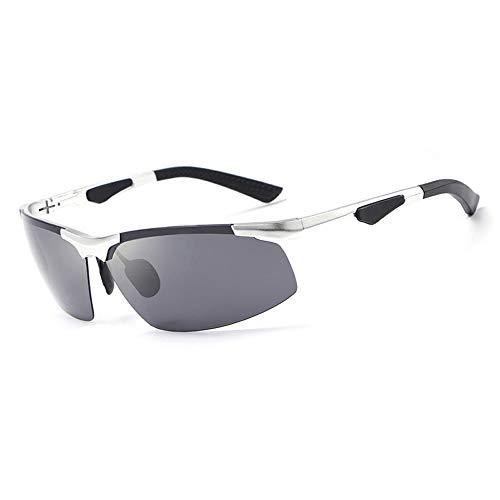 M.J.ZUR Sonnenbrillen Brillen Polarisierte Sonnenbrillen Herren Frameless Sports Driving Glasses (Color : Silber, Size : Kostenlos)
