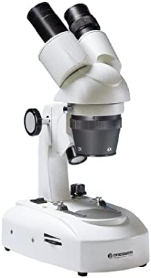 Bresser Researcher ICD LED/Akku - Microscopio estéreo (20x - 80x) blanco