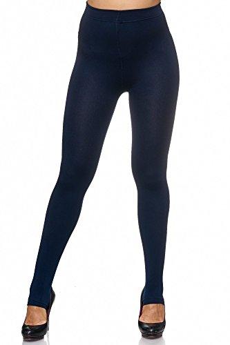 JillyMode Thermo Leggings Strumpfhose Warm mit Fleece Modelle A-Marine