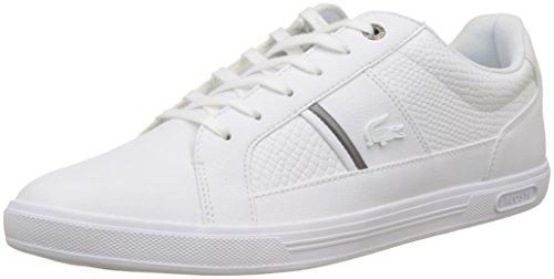 Lacoste Herren Europa 417 1 734SPM0044001 Sneaker, Weiß (White), 42 EU