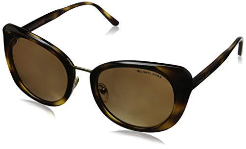 Michael Kors Damen LISBON 32852T 52 Sonnenbrille, Dark Tortoise/Goldmirrorpolarized,