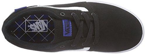 Vans Chapman Stripe, Baskets Basses Garçon Noir (Varsity/Black/Blue)