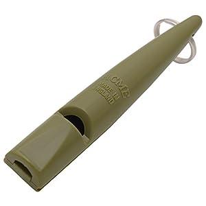 Sifflet ACME pour chien n° 210,5   Original d'Angleterre   Idéal pour le dressage des chiens   Matériel robuste   Fréquence standardisée   Fort et de grande portée (olive drab)