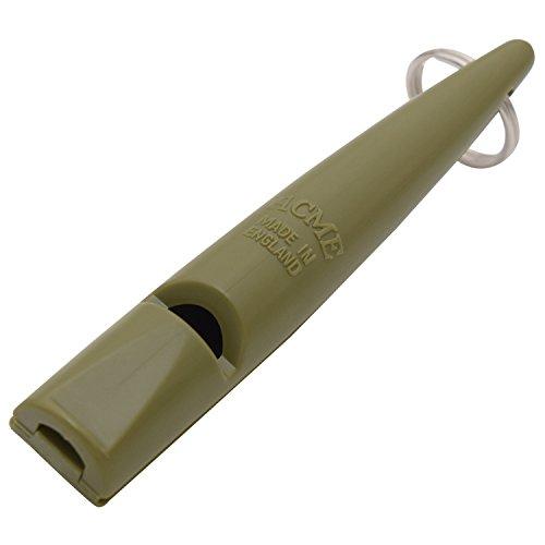 Acme Hundepfeife No. 211,5   Original aus England   Ideal für die Hundeausbildung   Robustes Material   Genormte Frequenz   Laut und weitreichend (Olive Drap)