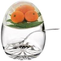 Epicurean Europe - Tarro para mermelada (con tapa y cuchara, 11 x 8,5 cm, acrílico), diseño de naranjas, color transparente