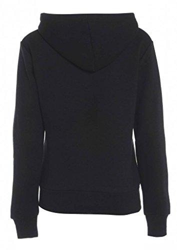 GG Femmes Lona plaine Zip Toison capuche Sweatshirt dames Vêtements Veste Manteau Noir