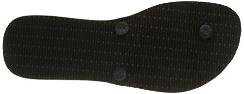 Havaianas Damen Flat Pantoffeln Schwarz (Black 0090)