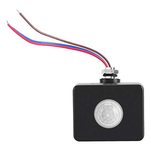Sensore di movimento esterno corpo umano a infrarossi PIR parete Pavement sistema di allarme interruttore nero 110 V-240 V