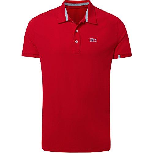 Sportkind Jungen & Herren Tennis / Golf / Sport Poloshirt, rot, Gr. L