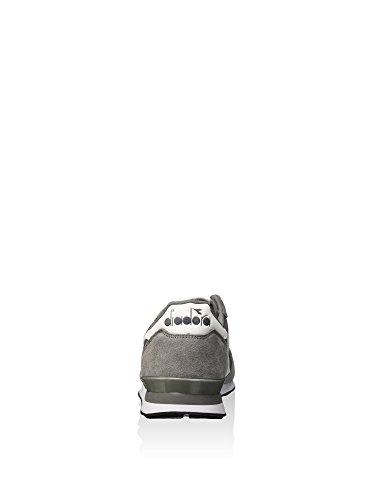 Diadora Camaro Leather, Pompes à plateforme plate homme Grigio Acciaio / Bianco