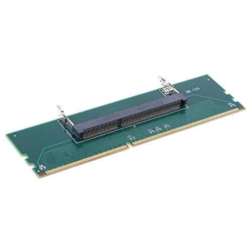 Grün-desktop-speicher (Green DDR3 Laptop SO DIMM auf Desktop DIMM Speicher RAM Anschluss Adapterkarte Nützliches Zubehör für Computerkomponenten (grün))