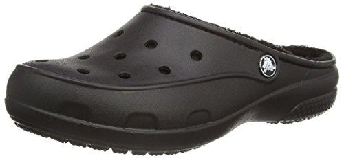 Crocs Freesail Lined W, Sabots Femme Noir (Black/Black)