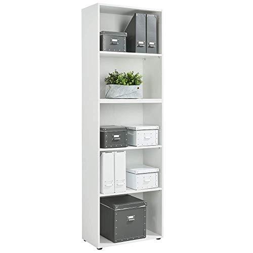 Standregal Bücherregal Wandregal Aufbewahrungsregal Holz Regal - Typ 5 - Farbe weiß