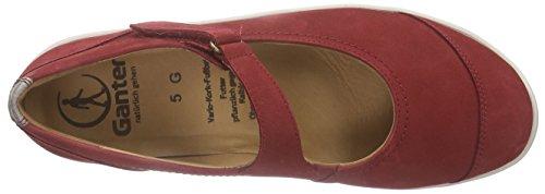 Ganter Gill, Weite G, Ballerines Fermé femme rouge (rosso/cotton 4108)