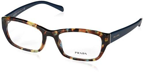 Prada Für Frau 18o Blue Tortoise Kunststoffgestell Brillen, 54mm