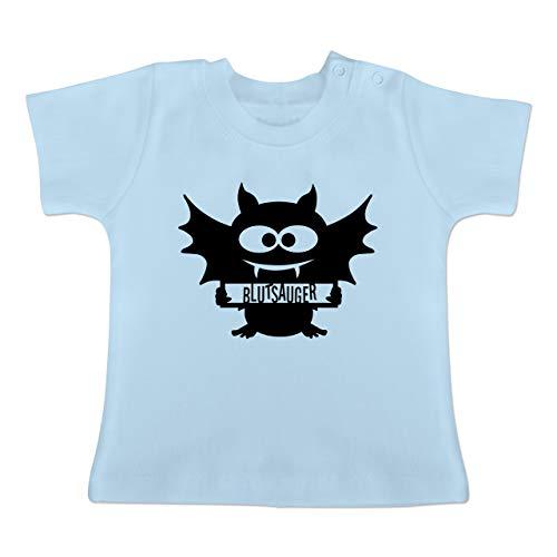 Anlässe Baby - Fledermaus - 1-3 Monate - Babyblau - BZ02 - Baby T-Shirt (True Blood Kostüm Party)